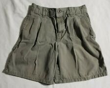 Izod Green ~ Olive Casual Pleated Shorts Boys Size 8
