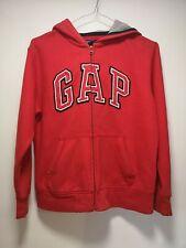 Gap Red Hoodie / Hooded Zip Up Cotton Jumper - Age 10-11 (441)