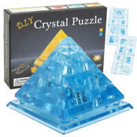 Creative IQ 3D Blue Crystal Puzzle Jigsaw Blocks Assembling Pyramid Model Toys