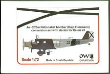 Owl Decals 1/72 JUNKERS Ju-52/3m NATIONALIST Bomber Hajo Herrmann Conversion Kit