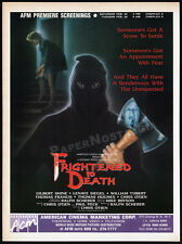 FRIGHTENED TO DEATH__Original 1989 Trade print AD / horror promo_CHRISTIAN OTJEN