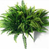 Fake Greenery Plant Imitation Hanging Boston Fern Bush Decor Artificial