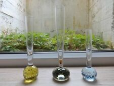 Collection of 3 vintage controlled bubble glass bud vases vase (ref.F)