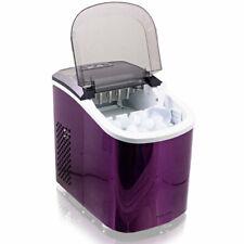 Design Edelstahl Eiswürfelmaschine Eiswürfelbereiter IceMaker Maschine Lila