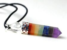 REIKI HEALING ENERGY CHARGED CRYSTAL CHAKRA PENDANT POINT CLEAR QUARTZ SPHERE UK