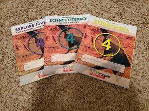 STEMscopes Grade 4 3 book set STEMscopedia Science, Literacy & Explore Journal