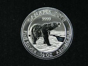 2018 $2 1/2 Ounce Silver Coin Canada Polar Bear 9999 Fine Ag Royal Canadian Mint