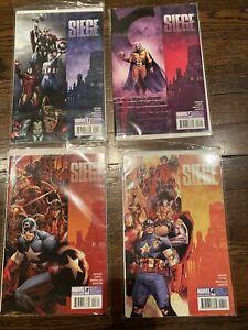 "MARVEL COMICS ""SIEGE #1-4 (2010)"" Avengers Limited Series Complete Set VGC!"