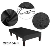 8FT 276*164cm Black Waterproof Pool Snooker Billiard Table Cover Nylon Polyester