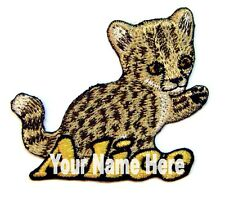 Cheetah Custom Iron-on Patch With Name Personalized Free