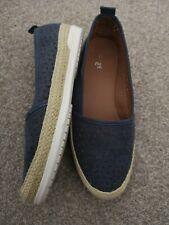 TU Woman Flats Shoes Blue Size 5