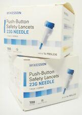 McKesson 16-PBSL23G Push-Button Safety Lancets EXP 9/1/24 23G QTY 200