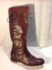 Bertie Brown Knee High Leather Boots Size 38