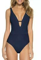 BECCA by Rebecca VirtueLoreto Plunge One Piece Swimsuit Small New Without Tags