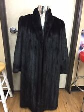 Tobias & Saga Mink Fur Black Full Length Coat Size 16