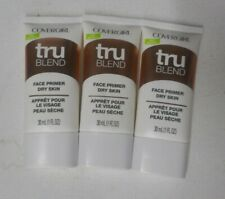 3 tube lot COVERGIRL TRU BLEND trublend FACE PRIMER DRY SKIN unsealed