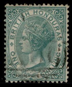 BRITISH HONDURAS QV SG4, 1s green, FINE USED. Cat £130.