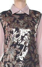 DRIES VAN NOTEN Haiko Scattered Sequin Embellished Jersey Top T-Shirt MSRP$460