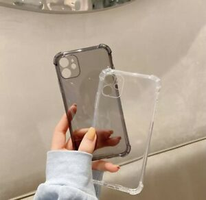 Lens Protection Shockproof Phone Cases For iPhone 11, Clear Silicone Case Soft B