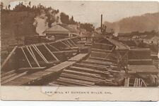 1910 Postcard of the Saw Mill at Duncan's Mills CA