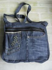 Gorgeous Handcrafted Ladies Washed Out Creased Look Denim Jeans - Shoulder Bag