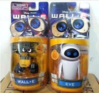 Diseny Pixar Wall-E and Eee-Vah EVE Set of 2pcs Mini Robot Action Figure Toy New