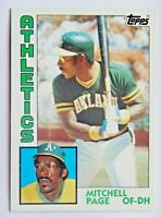 Mitchell Page #414 Topps 1984 Baseball Card (Oakland Athletics) VG