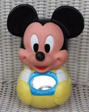 "Vintage 1963 Disney 7.5"" Mickey Mouse Infant Baby Wobble Rocking Chime Toy"