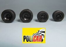 COMPLETE SET WHEELS F1 70´S - POLICAR NEW LOTUS 72 - 1/32 FORMULA SLOT CAR
