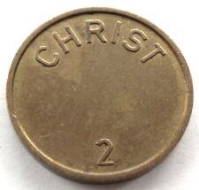 GERMANY, CHRIST 2 Car Wash Token 22mm 6.3g Brass. M7.4