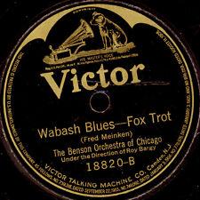 BENSON ORCHESTRA OF CHIGAGO Wabash Blues / Tuck me to sleep...   78rpm  S8496