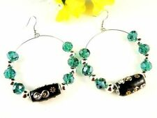 Emerald Beauty Hoop Fashion Earrings