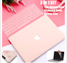 MacBook Air 13 Inch Rubberised Hard Case Keyboard Cover Pro 13 Inch 2018 Pink