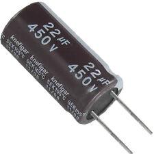 6 Elko Condensatore elettrolitici condensatore 22µf 450v 105 ° C Ø 16 H 32mm codice 11/08
