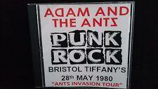 Adam And The Ants Punk CD Tiffanys 1980/Sex Pistols/Sigue Sigue Sputnik/The Ruts