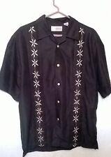 Cubavera Bowling Shirt Short Sleeves Button Front Size Small FREE SHIPPING