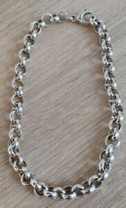 Prachtvolle Kette Erbskette echt Silber 925 45cm Halskette Sterlingsilber 65 gr!