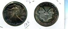 1987 AMERICAN SILVER EAGLE 1 OZ DOLLAR .999 FINE COIN CH BU RAINBOW TONED 1829L