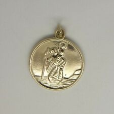 St Christopher Pendant - 9ct Yellow Gold - 18mm