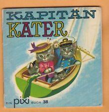 Vtg. Kapitan Kater (Captain Cat) child book in German, great illustrations Rare