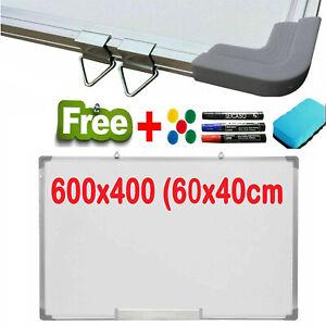 Whiteboard 40x 60 cm Magnetic White Board Dry Wipe Notice Office School Home UK