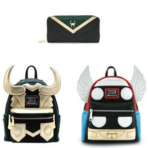 Avengers Loki Faux Leather Mini Backpack Purse Cosplay Superhero Shoulder Bags