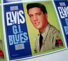 """ELVIS PRESLEY GI BLUES ALBUM COVER  QUALITY VINYL STICKER 100MM 4"""" OTHERS LISTED"""