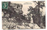 courçay  rochers au bord de l'indre