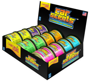 12 x ASSORTED BOXED DISPLAY CALIFORNIA SCENTS CAR AIR FRESHENER FRAGRANCES