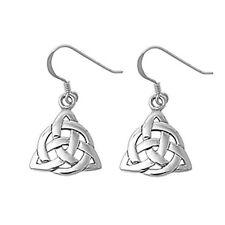 BEST SELLER! Triangular Celtic .925 Sterling Silver Earrings