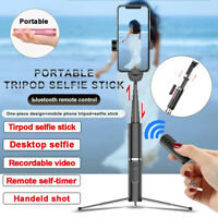 6IN1 bluetooth Selfie Stick Tripod Monopod Remote Control 360° Clamp iOS Android