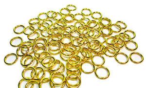 50 Stk Offene Biegeringe Gold 8mm Spaltring Binderinge Federringe Ösen Ringe
