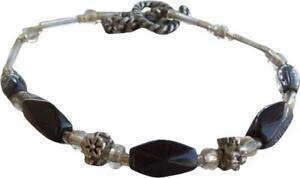 Handmade Black Beaded Bracelet
