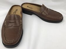 NEW Women's Bass Weejuns PEGGY Slip-on Penny Loafers Mules Clogs Brown Sz. 6 1/2